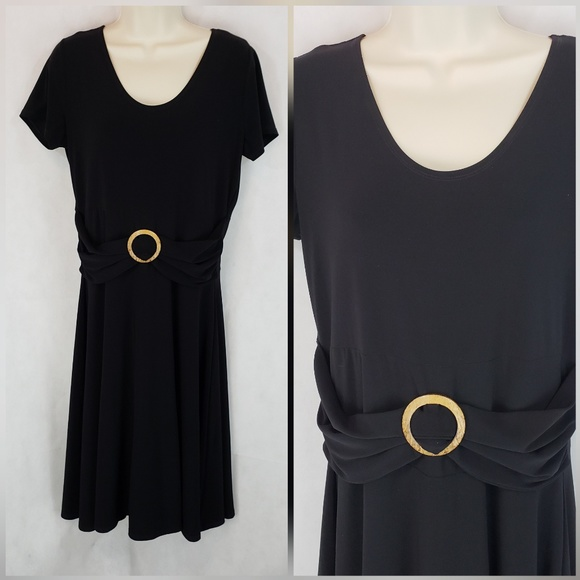 Aa Studio Dresses 10p Black Fit Flare Midi Dress Ss Poshmark